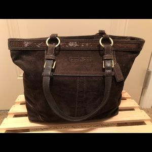 Coach Suede and Beaded Purse